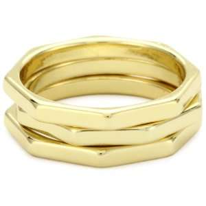 Jules Smith Prism 14k Gold Plated Stacked Rings, Size 7 Jewelry