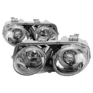 98 01 Acura Integra Chrome LED Halo Projector Headlights Automotive