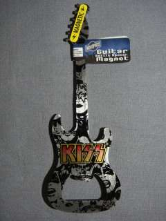 KISS METAL GUITAR BOTTLE OPENER AND MAGNET NEW
