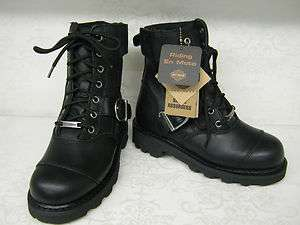 Ladies Harley Davidson Legend Black Leather Lace Up Boots