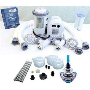 INTEX 1500 GPH Easy Set Swimming Pool Filter Pump w/ GFCI & V Trap Vac