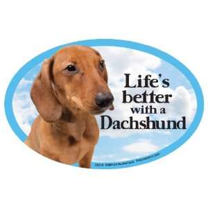 Dachshund Oval Dog Magnet for Cars Pet Supplies