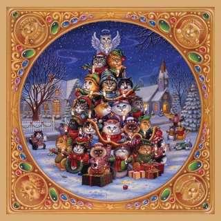 SUNSOUT JIGSAW PUZZLE O KITTEN TREE (2) RANDAL SPANGLER