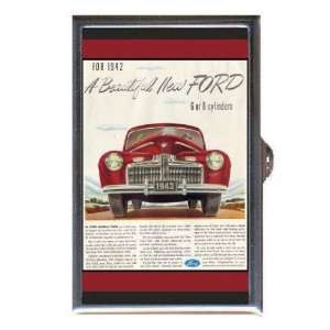 1942 Ford Automobile Color Ad Coin, Mint or Pill Box: Made