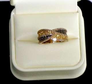 Le Vian Diamond & Saphire Ring 14K Gold Chocolate & White Diamonds