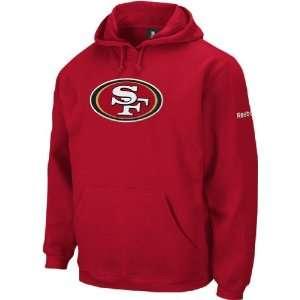 Reebok San Francisco 49ers Scarlet Logo Patch Hooded