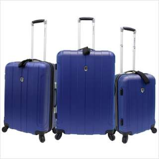 Piece Hard shell Spinner Luggage Set Blue TC3800N 694396380039