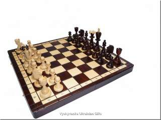 Polish High Quality Hand Carved Wooden Chess Set   Ace