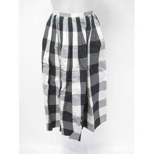 Michael Kors NWT MICHAEL KORS Black White Gray Checkered Cotton