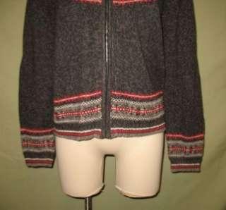 Tiara International Nordic Style Gray LS Cardigan Sweater EUC LG
