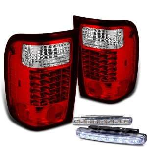 Eautolight 93 97 Ford Ranger LED Tail Lights + LED Bumper