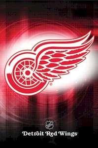 HOCKEY POSTER ~ DETROIT RED WINGS SPOT LOGO 8624 NHL