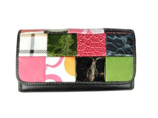 Bright Spring Wallet w/Designer Look, Durable Quality, Checkbook, ID