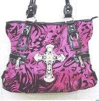 Beautiful RHINESTONE Handbag FUSHA with lots of BLING