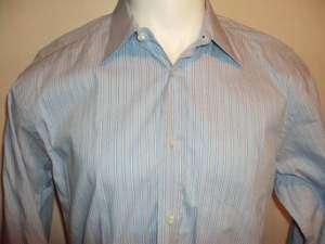 MISSONI Mens Blue Striped Dress Shirt 17/43 ITALY