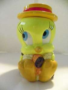 Looney Tunes Tweety Bird Cookie Jar Yellow Straw Hat