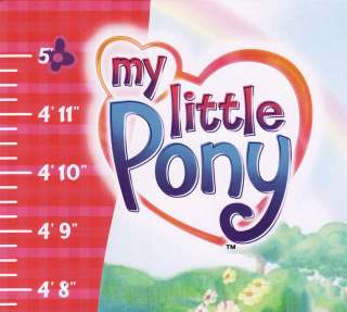Childrens Growth Chart Featuring MY LITTLE PONY Measures from 2 to