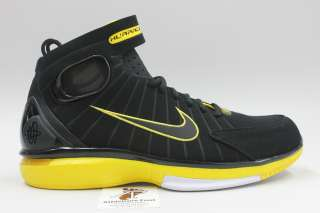 NIKE MENS AIR ZOOM HUARACHE 2K4 BASKETBALL SHOES NEW BLACK MAIZE