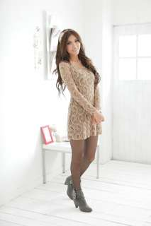Asian Size XL 4XL women elegant long sleeve geometric lace net mini