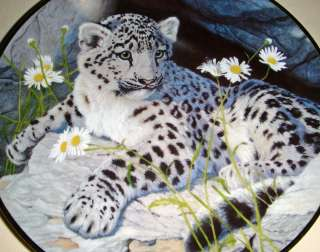 Glen Loates Snow Leopard Cub & Ladybug Plate Bx+COA