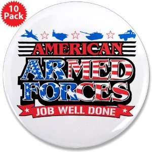 3.5 Button (10 Pack) American Armed Forces Army Navy Air Force