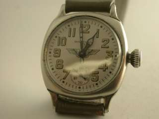 1935 Waltham 17 Jewel Pilots Watch Cushion Case Serviced |