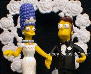 Wedding Cake Topper y Homer & Marge Simpsons Simpson #2