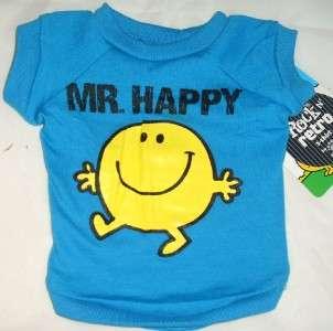 Dog MR HAPPY TEE SHIRT CUTE Rock & Retro Pet Puppy Boy Clothes Top