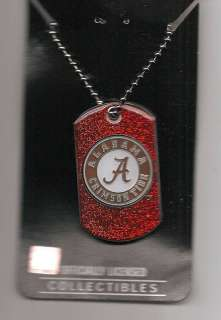 New Alabama Crimson Tide Dog Tag Necklace Go Bama 763264160476