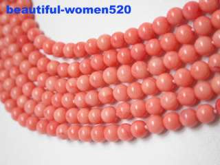 Elegant 6strands pink coral necklace silver clasp,This a beautiful