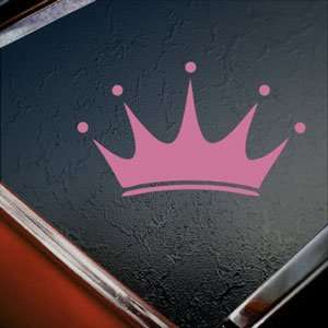 Crown Pink Decal Boat Truck Bumper Window Vinyl Pink Sticker
