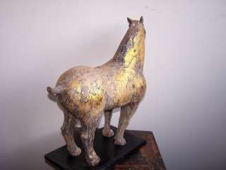 CHINESE CAST IRON HORSE on STAND (VINTAGE)