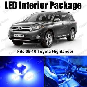 Toyota Highlander Blue Interior LED Package (8 Pieces