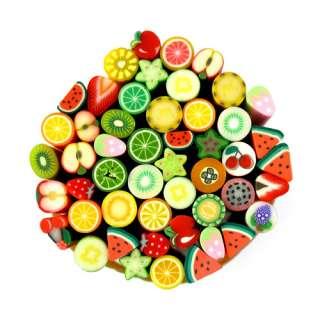 50pcs Colorful Fimo Fruit Canes Nail Art Decoration