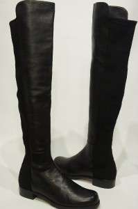 WEITZMAN 5050 CADET BLACK NAPPA LEATHER BOOTS SHOES 4 M $595