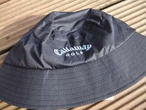 CALLAWAY WOMENS BLACK RAIN BUCKET HAT ONE SIZE RRP£15