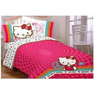 Hello Kitty Peace Sanrio Bedding Twin Full Comforter