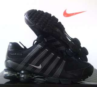 Nike Women Air Shox NZ 2.0 Black/Metallic Silver sz 9.5