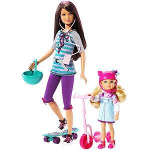 Barbie Sisters Skateboard Skipper and Chelsea Dolls
