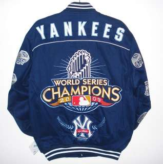 AUTHENTIC MLB NEW YORK YANKEES COTTON CHAMPION JACKET JH DESIGN XXXL