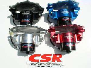 NEW SMALL BLOCK MOPAR CSR BILLET ELECTRIC WATER PUMP WITH FREE BOTTOM