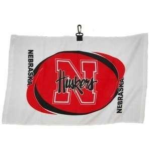 Nebraska Huskers NCAA Printed Hemmed Golf Towel  Sports