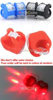 Silicone Bike Bicycle Rear Wheel LED 3 Switch Full Flash Slow