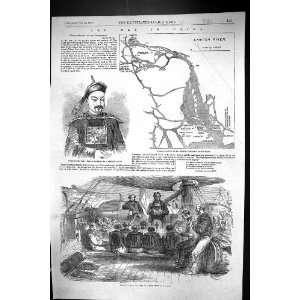 1858 War China Crew Gun boat Canton River Prayers
