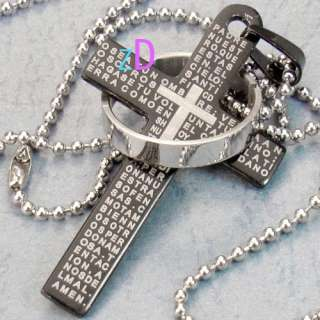 Cross Ring Style Stainless 316L steel Pendant Necklace Fashion Jewelry