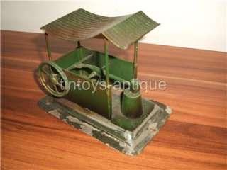 Ernst Plank live steam engine model ca 1900 tin german antique vintage