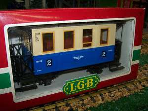 LGB G SCALE COACH LGB 3015 LGB STEEL WHEELS+LED LIGHTS