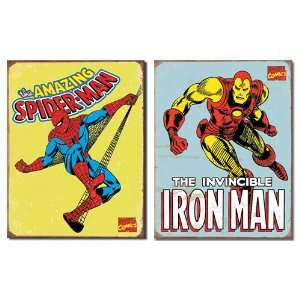 Spider Man Retro & Iron Man Retro 0110