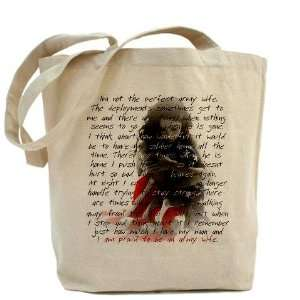 ARMY WIFE POEM Military Tote Bag by CafePress: Beauty