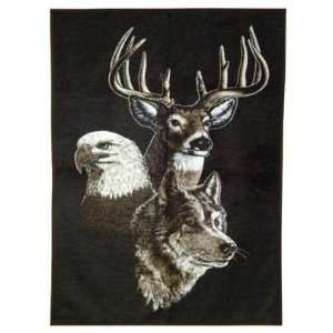 Natures Friends Throw Blanket (With Eagle, Deer, and Wolf
